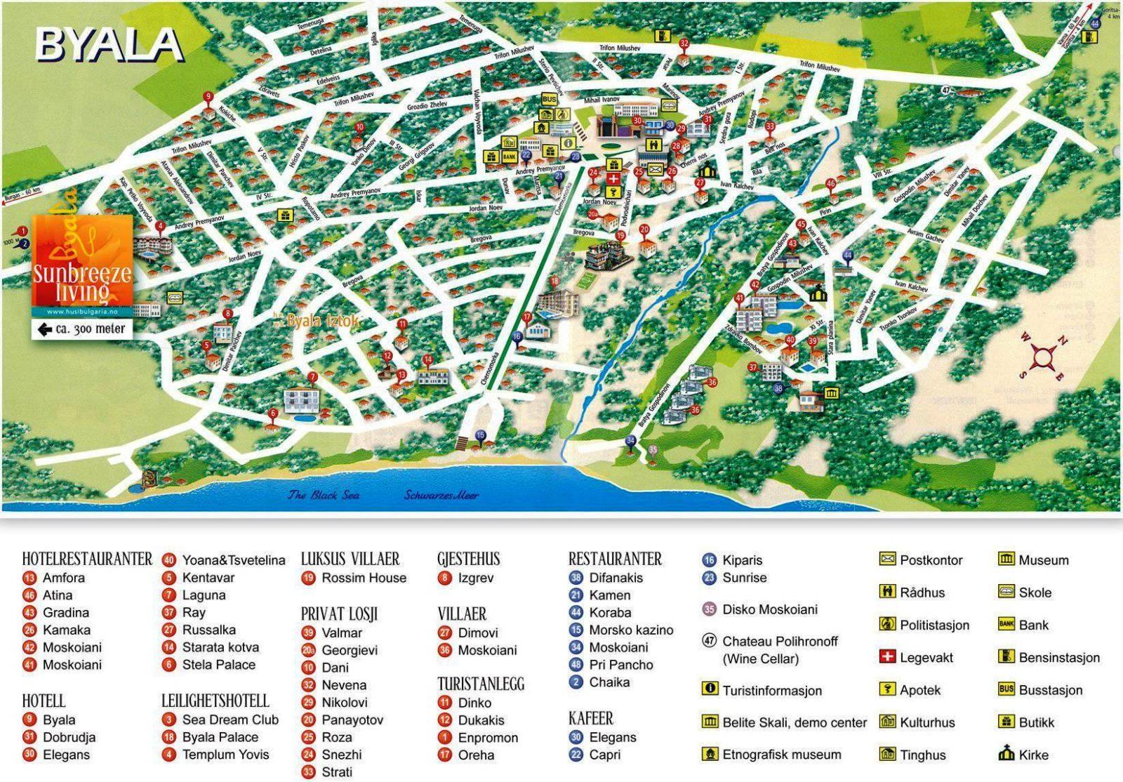 карта бяла болгария