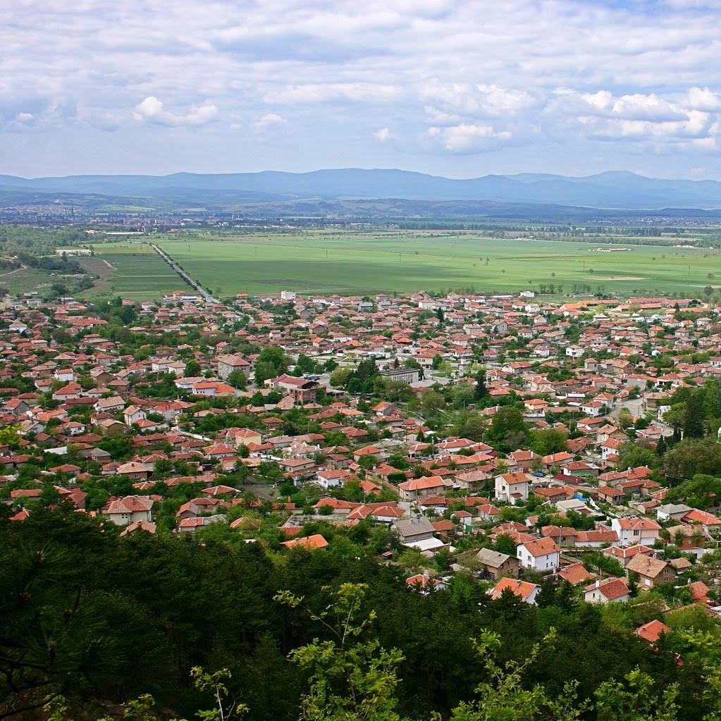 Вид на город Казанлык